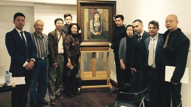 """Tác phẩm """"Chân dung thiếu nữ"""" do Họa sĩ Nguyễn Trọng Kiệm vẽ năm 1962 được đấu giá thành công với mức giá 16.000 USD"""