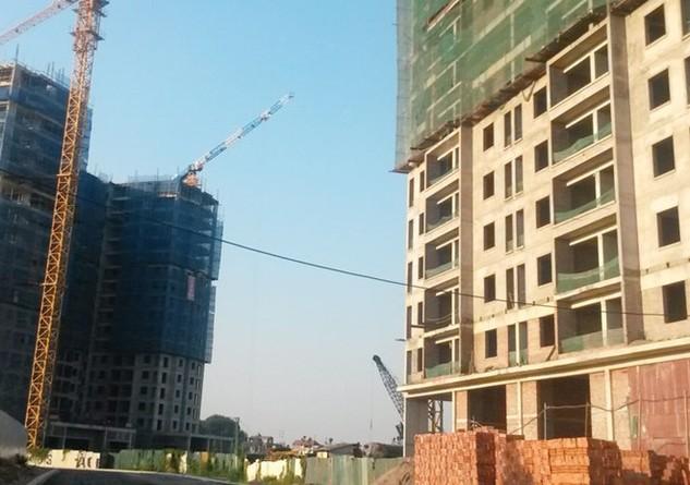 Nhiều dự án nhà giá rẻ phía Tây Hà Nội như Dự án The Golden An Khánh tăng mạnh giá bán thời gian gần đây. Ảnh: Nguyên Minh