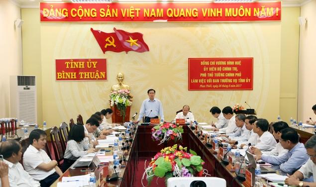 Bộ Chính trị kiểm tra công tác cán bộ tại Bình Thuận - ảnh 1