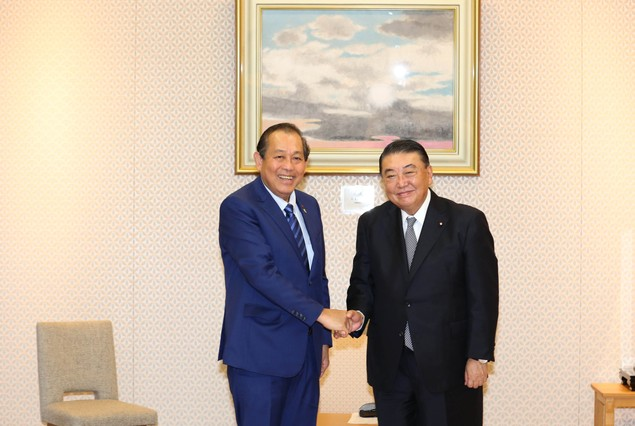Phó Thủ tướng Trương Hòa Bình hội kiến lãnh đạo Nhật Bản - ảnh 1