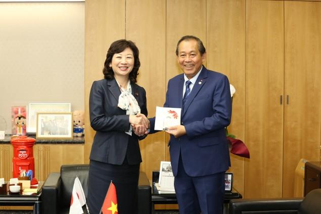 Phó Thủ tướng Trương Hòa Bình hội kiến lãnh đạo Nhật Bản - ảnh 2