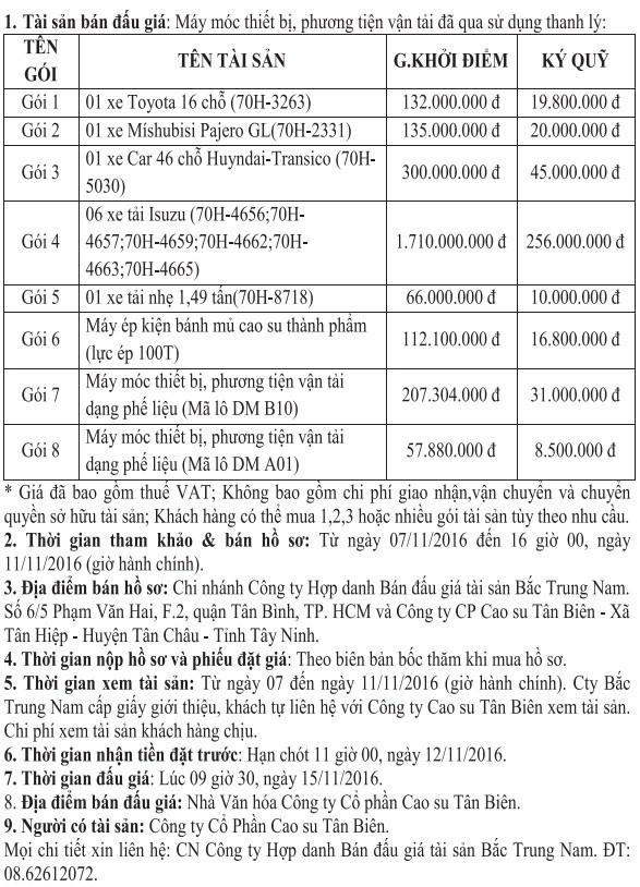 Đấu giá Máy móc thiết bị, phương tiện vận tải - ảnh 1