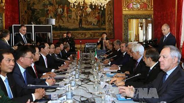 Chủ tịch nước hội đàm với Tổng thống Italy - ảnh 1