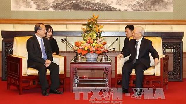 Tổng Bí thư tiếp lãnh đạo một số doanh nghiệp Trung Quốc - ảnh 1
