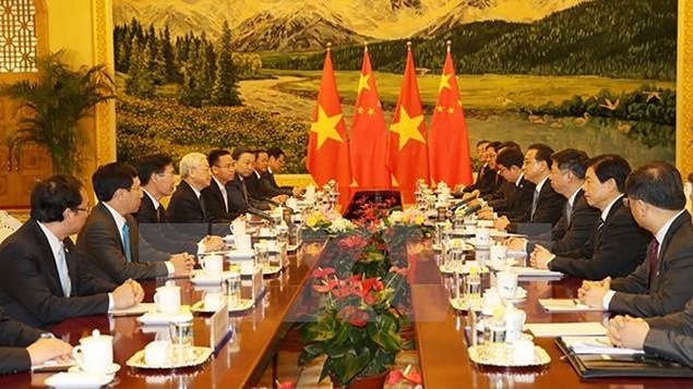Tổng Bí thư hội kiến với Thủ tướng Quốc vụ viện Trung Quốc - ảnh 1