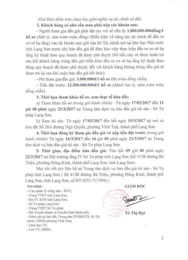 Đấu giá quyền sử dụng đất tại TP Lạng Sơn, tỉnh Lạng Sơn - ảnh 2