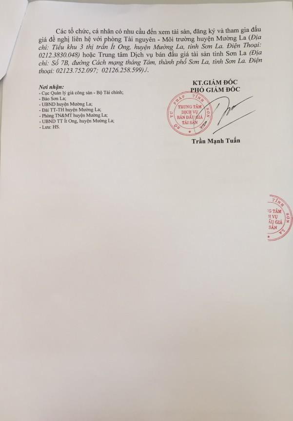 Đấu giá quyền sử dụng đất tại huyện Mường La (Sơn La) - ảnh 2