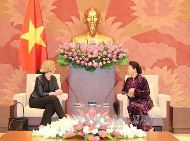 Chủ tịch Quốc hội tiếp Đại sứ Australia, Đại sứ New Zealand - ảnh 1