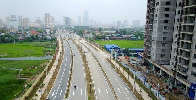 """Tuyến đường """"dát kim cương"""": 3,5km đổi gần 70ha đất ở Hà Nội sắp thông xe - ảnh 1"""