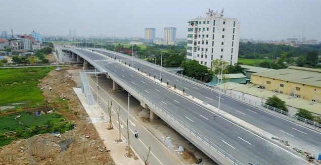 """Tuyến đường """"dát kim cương"""": 3,5km đổi gần 70ha đất ở Hà Nội sắp thông xe - ảnh 2"""