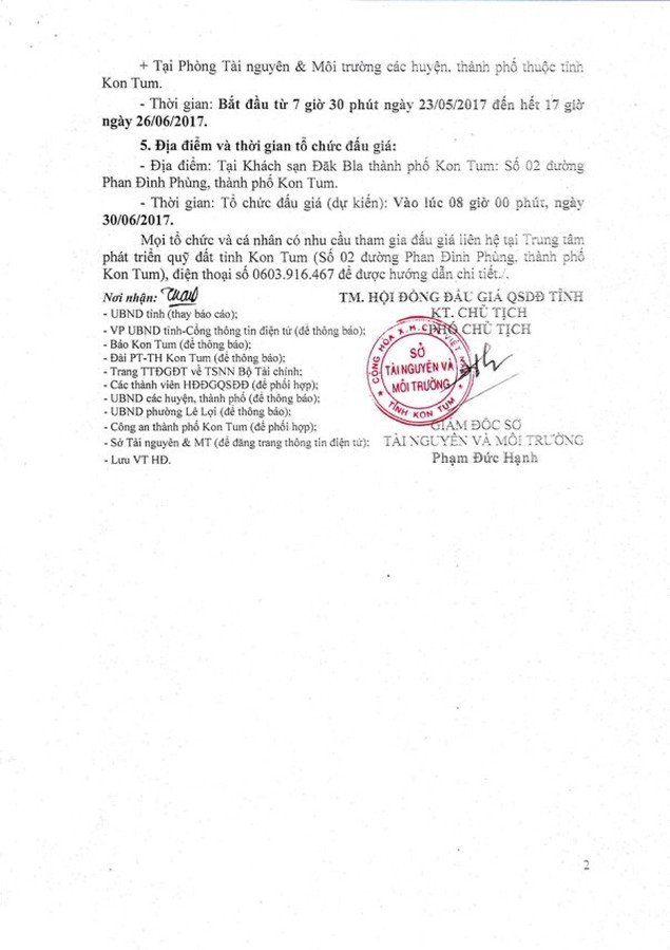 Đấu giá quyền sử dụng đất tại TP Kon Tum, Kon Tum - ảnh 2