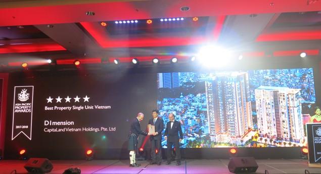 Dự án D1 Mension và Feliz en Vista của CapitaLand Việt Nam ''thắng lớn'' tại Giải Bất động sản Châu Á – Thái Bình Dương 2017 - ảnh 1