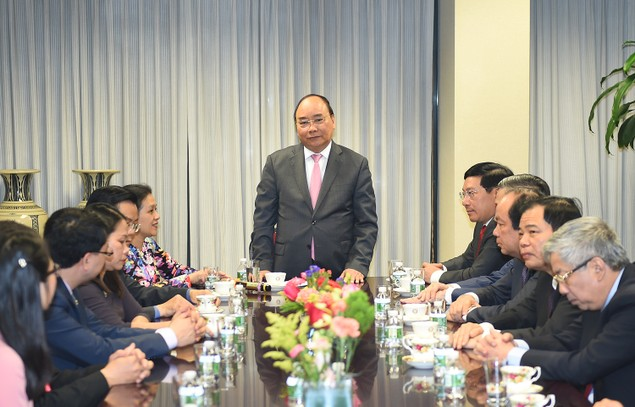 Thủ tướng thăm Phái đoàn Thường trực Việt Nam tại Liên Hợp Quốc - ảnh 1