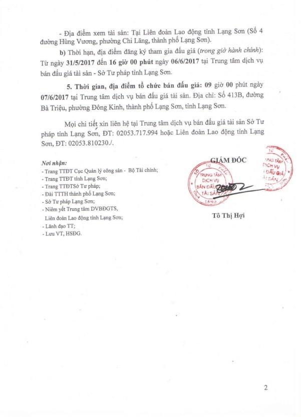 Đấu giá xe ô tô tại Lạng Sơn - ảnh 2