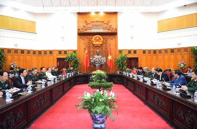 Thủ tướng Nguyễn Xuân Phúc tiếp Phó Chủ tịch Quân ủy Trung ương Trung Quốc - ảnh 1