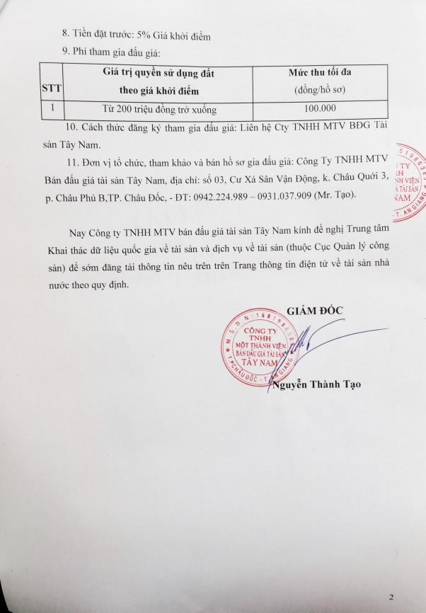 Đấu giá quyền sử dụng đất tại TP.Châu Đốc, An Giang - ảnh 2