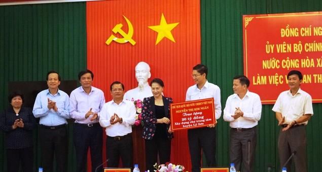 Chủ tịch Quốc hội Nguyễn Thị Kim Ngân làm việc tại Quảng Ngãi - ảnh 1