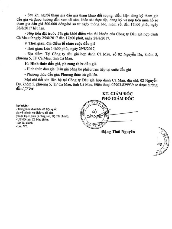 Đấu giá Hệ thống đường ống, giếng khoan tại KĐT Năm Căn, huyện Năm Căn, Cà Mau - ảnh 2