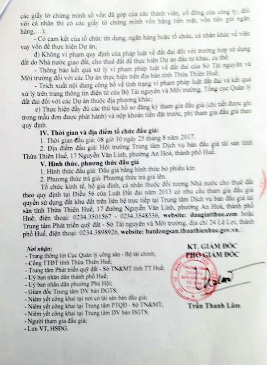 Đấu giá quyền sử dụng đất tại TP.Huế, Thừa Thiên Huế - ảnh 3