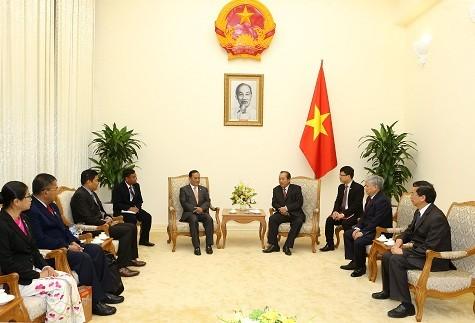 Phó Thủ tướng Trương Hòa Bình tiếp Bộ trưởng Bộ Các vấn đề biên giới Myanmar - ảnh 1