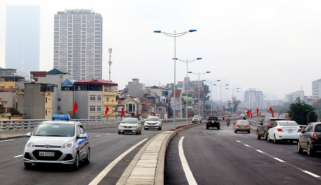Đường vành đai 2 Nhật Tân - Cầu Giấy thông xe - ảnh 4