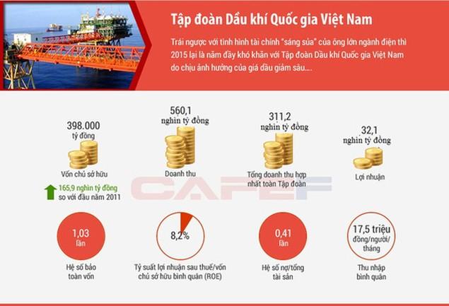 7 Tập đoàn kinh tế Nhà nước làm ăn ra sao trong năm 2015? - ảnh 2