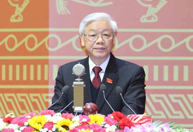 Đại biểu chúc mừng ông Nguyễn Phú Trọng tái đắc cử Tổng Bí thư - ảnh 1