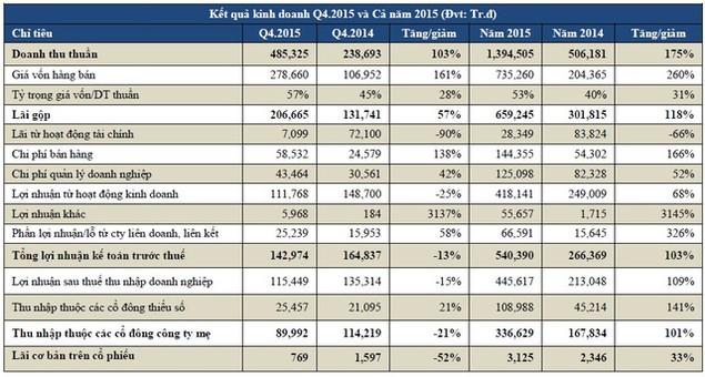 Địa ốc Đất Xanh: Lợi nhuận sau thuế hợp nhất năm 2015 đạt 336 tỷ đồng - ảnh 1