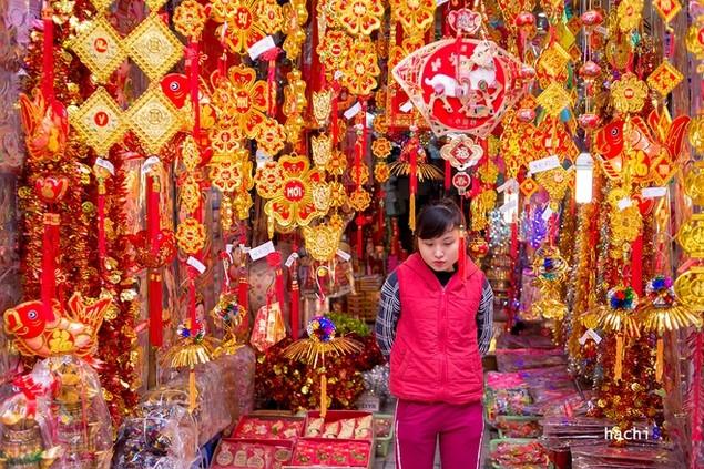 Rực rỡ phiên chợ Hà Nội cuối năm - ảnh 6