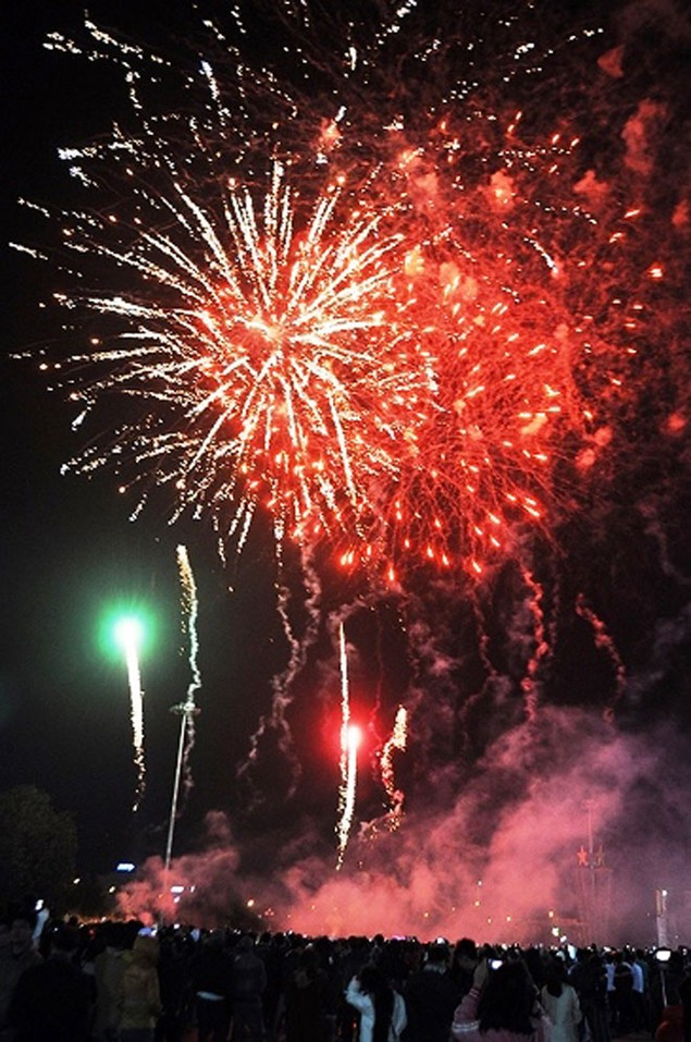 """Pháo """"nở hoa"""" trên bầu trời chào năm mới Bính Thân - ảnh 29"""