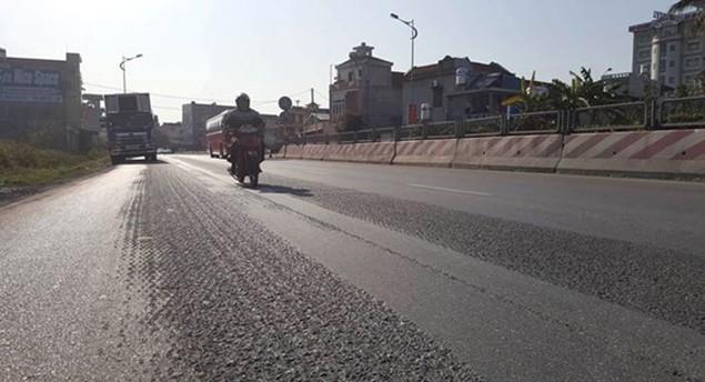 Cận cảnh xuống cấp nghiêm trọng tại QL18 Uông Bí – Hạ Long - ảnh 1