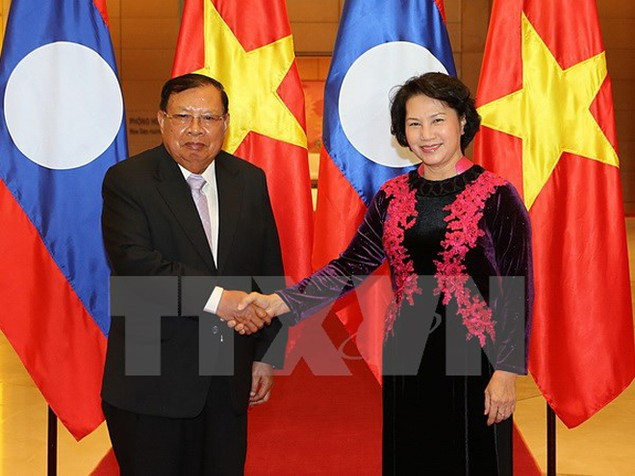 Tiếp tục đẩy mạnh, tăng cường hợp tác giữa hai Quốc hội Việt-Lào - ảnh 1