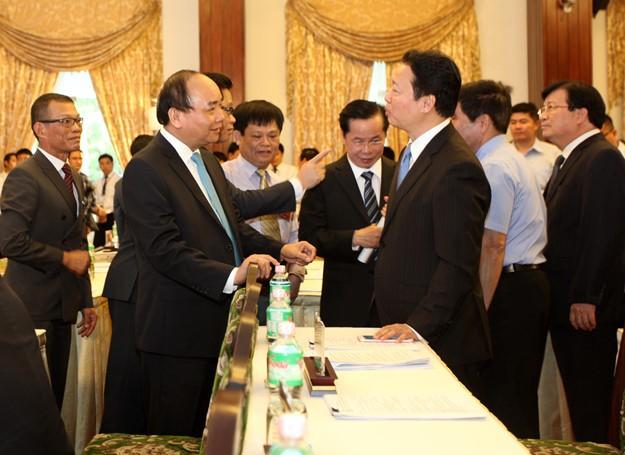 Những hình ảnh tại buổi đối thoại giữa Thủ tướng với doanh nghiệp - ảnh 7