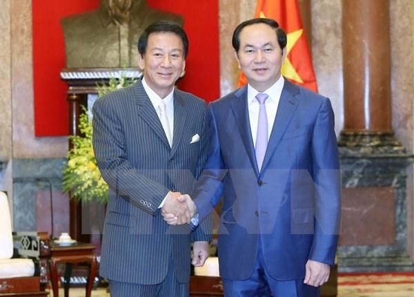 Chủ tịch nước Trần Đại Quang tiếp Đại sứ đặc biệt Việt Nam-Nhật Bản - ảnh 1