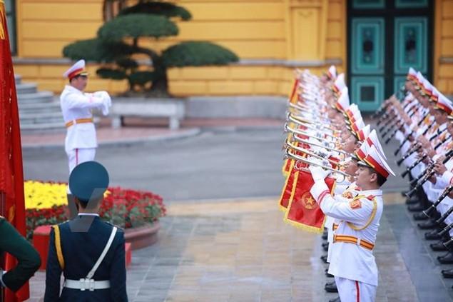 Cận cảnh lễ đón Tổng thống Hoa Kỳ Obama tại Phủ Chủ tịch - ảnh 5