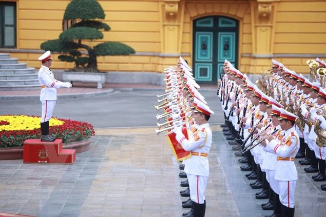 Cận cảnh lễ đón Tổng thống Hoa Kỳ Obama tại Phủ Chủ tịch - ảnh 8