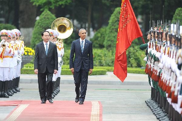 Lễ đón Tổng thống Mỹ Obama tại Phủ Chủ tịch - ảnh 2