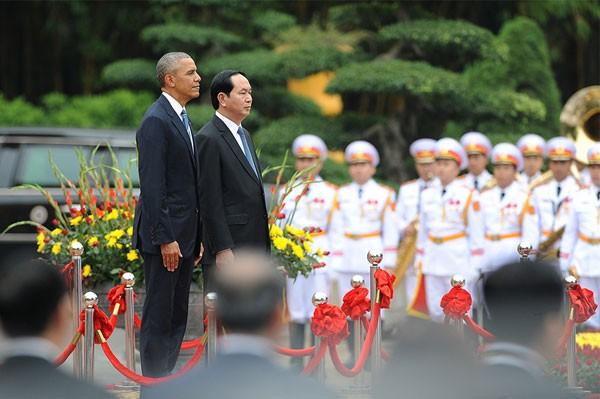 Lễ đón Tổng thống Mỹ Obama tại Phủ Chủ tịch - ảnh 1