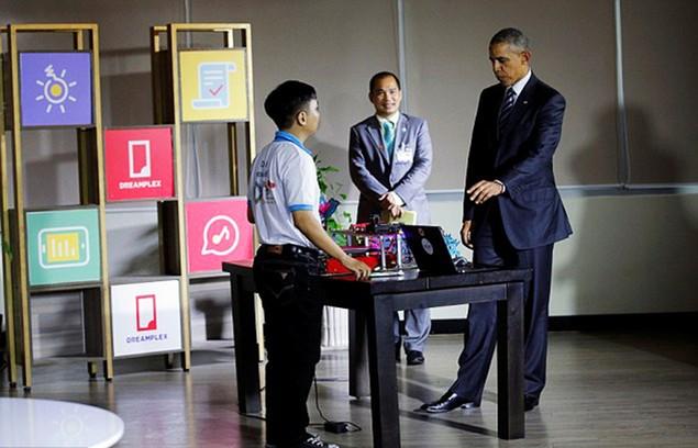 Buổi chiều của Tổng thống Obama tại TP HCM - ảnh 7