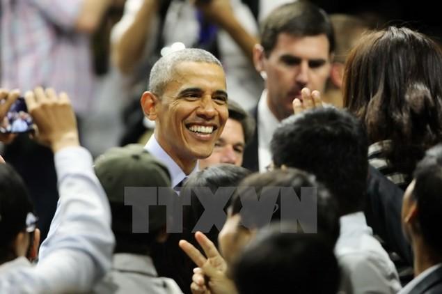 Ông Barack Obama giao lưu với hơn 600 thành viên YSEALI - ảnh 1