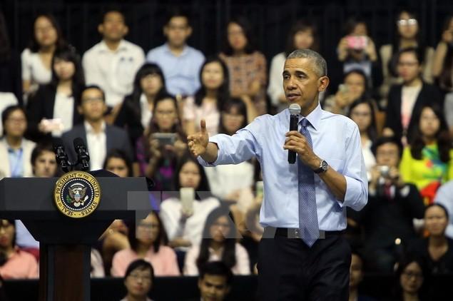 Ông Barack Obama giao lưu với hơn 600 thành viên YSEALI - ảnh 6