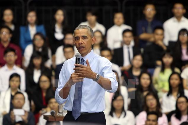 Ông Barack Obama giao lưu với hơn 600 thành viên YSEALI - ảnh 7