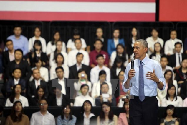 Ông Barack Obama giao lưu với hơn 600 thành viên YSEALI - ảnh 8