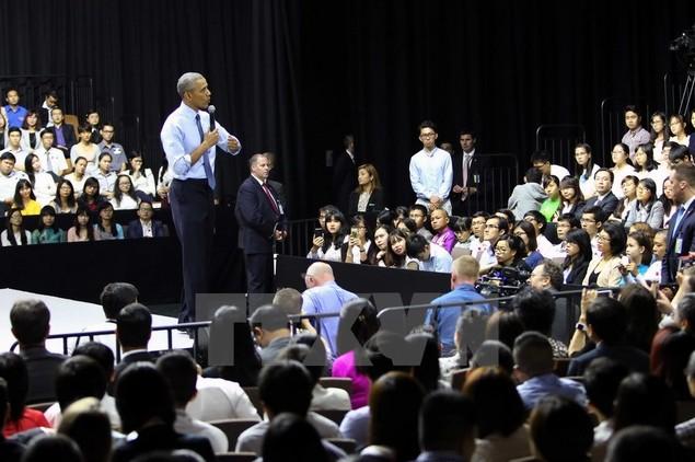 Ông Barack Obama giao lưu với hơn 600 thành viên YSEALI - ảnh 9