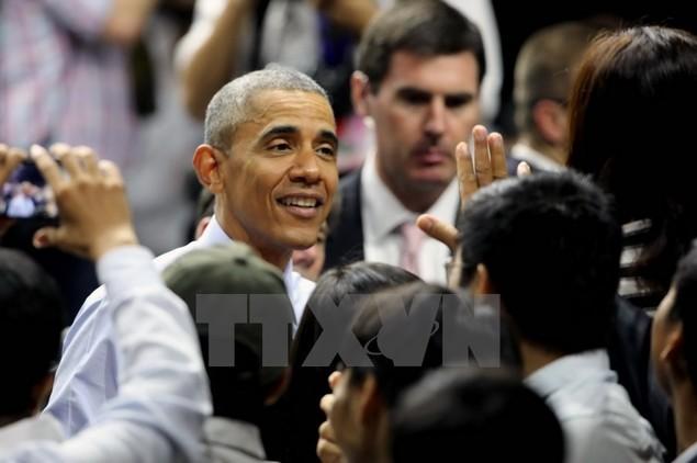 Ông Barack Obama giao lưu với hơn 600 thành viên YSEALI - ảnh 11