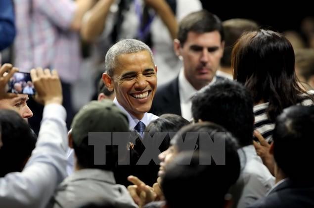 Ông Barack Obama giao lưu với hơn 600 thành viên YSEALI - ảnh 12