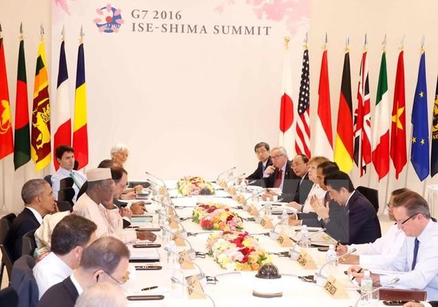 Thủ tướng kết thúc chuyến thăm Nhật và dự hội nghị G7 mở rộng - ảnh 1