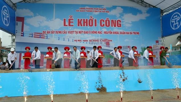Hà Nội khởi công xây cầu vượt nút giao Ô Đông Mác-Nguyễn Khoái - ảnh 2