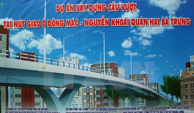 Hà Nội khởi công xây cầu vượt nút giao Ô Đông Mác-Nguyễn Khoái - ảnh 1