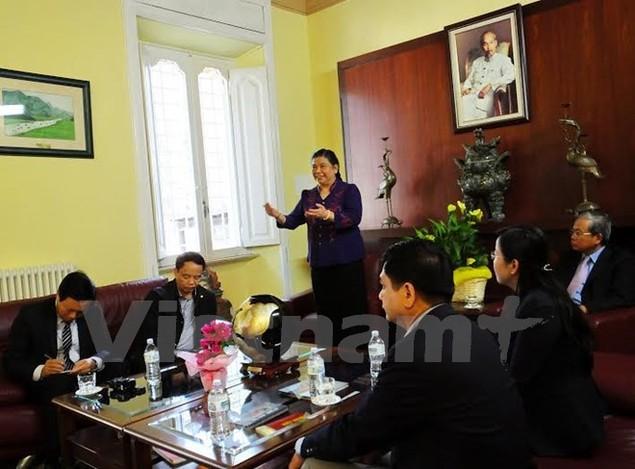 Tăng cường hợp tác giữa các đảng cộng sản Việt Nam-Italy - ảnh 1